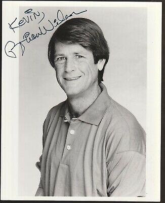 BRIAN WILSON Autographed Signed Promo Photo (Great Signature) BEACH BOYS • 92.20£