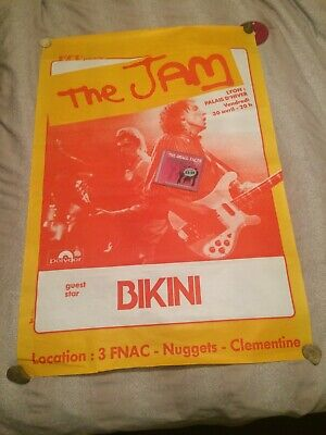 The Jam Official Original Very Rare Gig Poster Lyon France 82 Weller Very Large • 350£