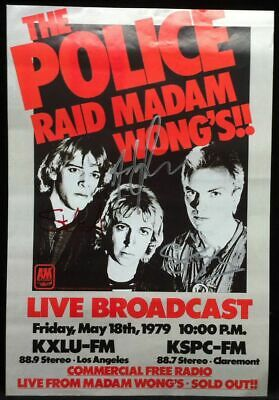 THE POLICE Autographed Signed Madam Wong's Concert Poster STING SUMMER COPELAND • 357.63£