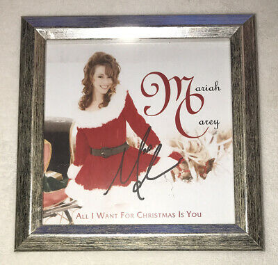 Signed Framed Sexy Mariah Carey All I Want For Christmas Cd Insert Autographed • 14.28£