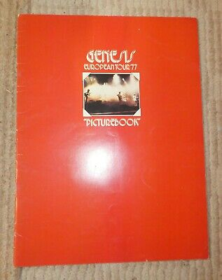 Genesis Tour Programme 1977 Picture Book Pernod Ad VERY Good Phil Collins • 44.99£