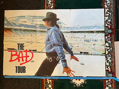 Michael Jackson 'the Bad' 'dirty Diana' Concert Tour POSTER (Original From 1987) • 25£