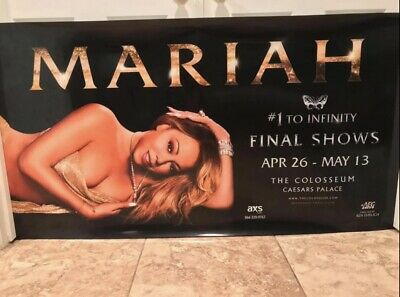 Mariah Carey #1 To Infinity Residence Lightbox Poster For Final Shows (RARE) • 143.04£