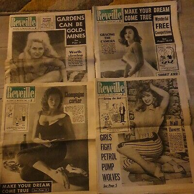 4 Reveille Newspapers  March  2nd  9th 16th 23rd 1961. Vintage Sixties Tabloid  • 13.99£