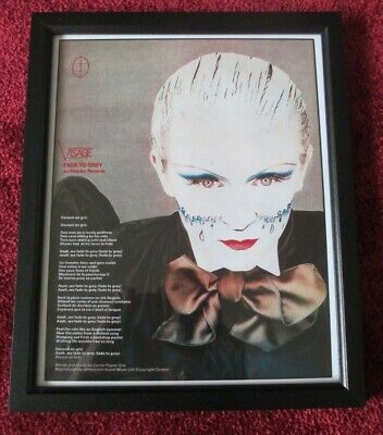 STEVE STRANGE / VISAGE Photo / Glossy Picture FRAMED As A Piece Of ART Ex • 6.99£