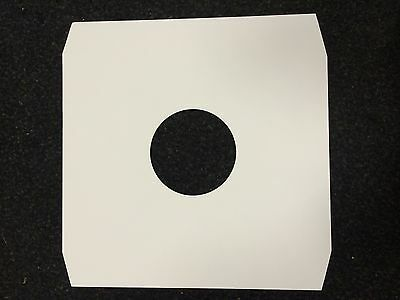 100 12  White Paper Inner Record Sleeves *new* Free P&p • 14.95£