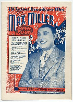 Max Miller Song Book 1938 19 Latest Broadcast Hits • 49.50£