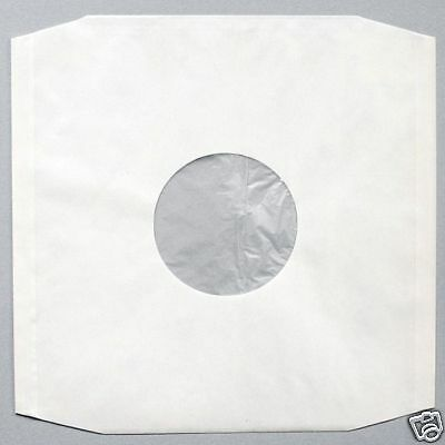 25 12  Polylined Antistatic Highest Quality White Paper Record Sleeves *new* • 7.39£