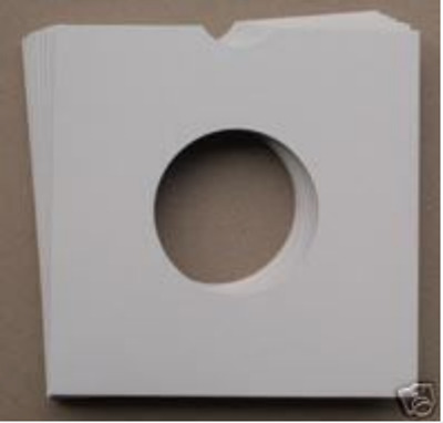 50 7  White Card Record Sleeves / Masterbags / Covers • 7.23£