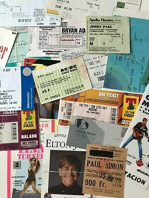 Collectors Ticket Stubs From Music Concerts *Choose From List*  • 4.95£