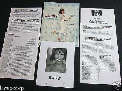 Whitney Houston 'the Greatest Hits' 2000 Press Kit--photo • 24.71£