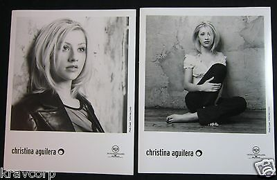Christina Aguilera—two 1999 Publicity Photos • 19.45£