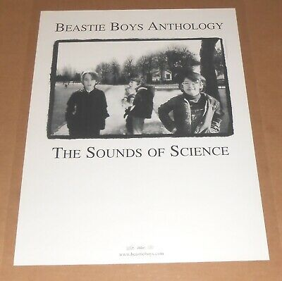 Beastie Boys Anthology The Sound Of Science 2-Sided Poster 1999 Promo 24x18 • 36.26£