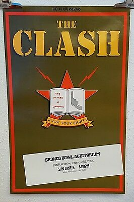 The Clash Know Your Rights Casbah Club Original Tour Poster 1982 • 249.99£