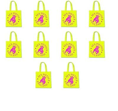 20 Wholesale Job Lot 20 OFFICIAL BAND Punk Sex Pistols ECO Tote Shopping Bags • 19.99£