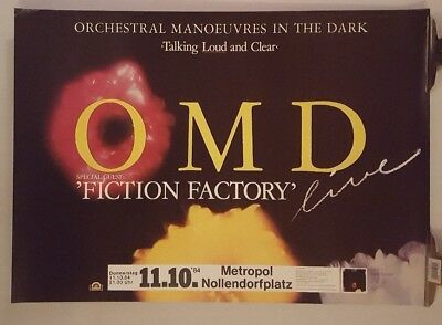 OMD Orchestral Manoeuvres In The Dark Tour 1984  Original Concert Poster • 69.99£