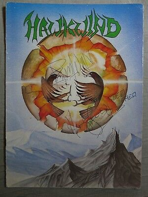 HAWKWIND Earth Ritual 1984 TOUR PROGRAMME ~ AUTOGRAPHED! • 60£