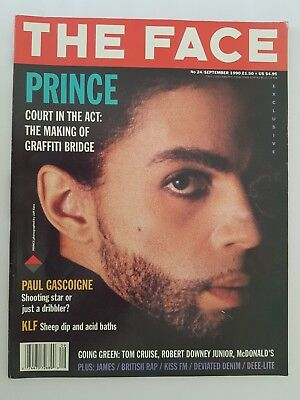PRINCE FACE UK Magazine 1990 6 Page Feature PLUS FULL PAGE AD • 14.99£