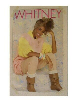 Whitney Houston Early 80s Shot Poster 8A Old • 31.75£
