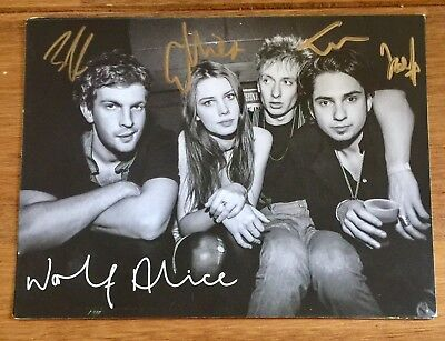 Wolf Alice Signed Promo Card Not Cd Or Vinyl • 19.95£