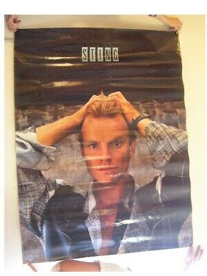 Sting Poster Hands On Head Half Smile The Police Old • 21.45£