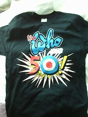 The Who Hits 50 New Cotton T Shirt Medium 2014 Official Tour Merchandise  • 12.99£