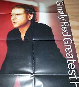 SIMPLY RED Greatest Hits POSTER UK East West 1996 Full Colour Folded Promo • 5.24£