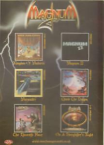 MAGNUM (METAL GROUP) Reissues CARD UK Castle Double Sided Promo Postcard • 3.14£