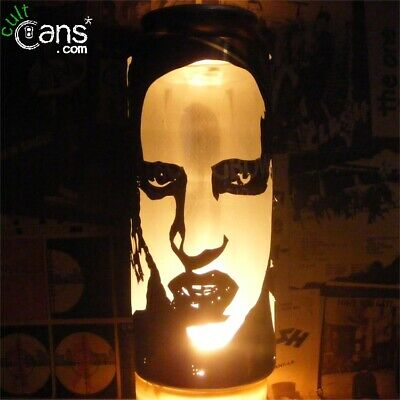 Marilyn Manson Beer Can Lantern! Industrial Goth Metal Pop Art Lamp, Unique Gift • 13.99£