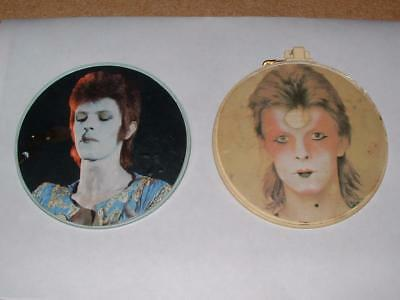 Rare Vintage 1973 ANABAS David Bowie Ziggy Fan Club Memorabilia Promo Pin Badges • 41.75£