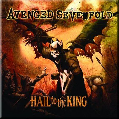 AVENGED SEVENFOLD Hail To The King  Fridge Magnet 3  Sqr Metal Gift Free UK P&P • 1.99£
