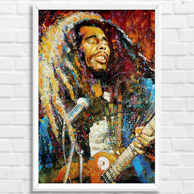 Bob Marley True Colors Stephen Fishwick Framed Art Print Poster Picture 91x61cm  • 34£