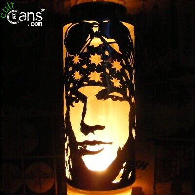 Axl Rose Beer Can Lantern! Guns N' Roses Pop Art Portrait Candle - Unique Gift! • 13.99£