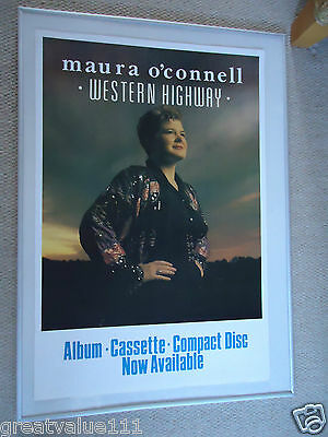 Maura O`connell Music Poster 1987 Original Unreleased Poster Western Highway Gem • 8.50£