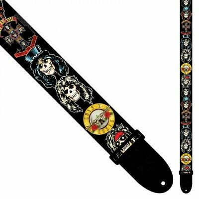 Guns N' Roses Perri's Polyester Guitar Strap - Appetite For Destruction Skulls • 23.99£