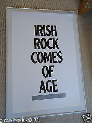 Irish Rock Comes Of Age Gig Poster 1985 Unreleased Printers Own Original Poster • 10£