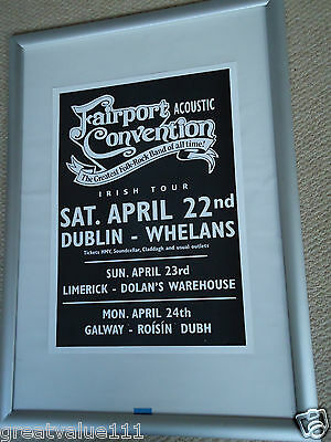Fairport Convention Tour Poster 2000 Mint Dated Unreleased Valuable Rare Gem • 11£