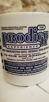 The Prodigy Hacienda Cup / Mug 90s Rave Flyer XL Recordings Keith Flint Fac 51 • 9.99£