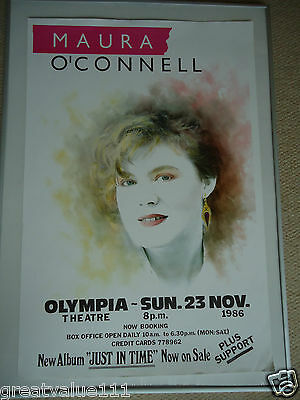 Maura O`connell Concert Gig Poster Fully Dated1986 Unreleased Printers Postergem • 7.50£