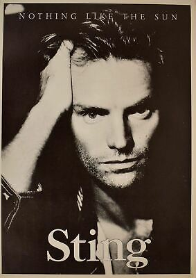 Sting Nothing Like The Sun Poster 24 X 34 • 37.52£