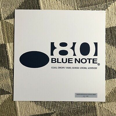 RARE & MINT Blue Note Records (jazz) Numbered Art Card For London Pop-up Store • 12.95£