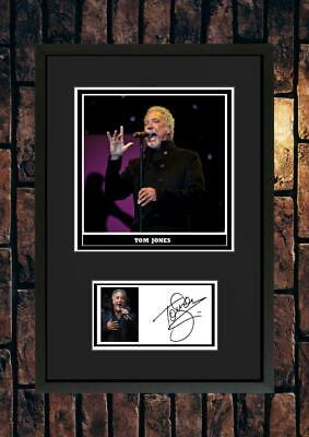 (#254)   Tom Jones Signed A4 Photo//framed (reprint) Great Gift @@@@@@@@@@@@@@@@ • 14.99£