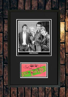 (#259)  Sex Pistols Signed A4 Photo//framed (pp) Great Gift @@@@@@@@@@@@@@@@@@@@ • 14.99£