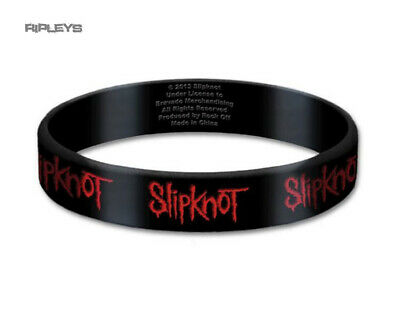 Official SLIPKNOT Silicone Wristband RED LOGO Black Gift • 4.50£