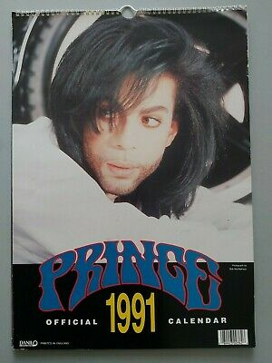 PRINCE OFFICIAL 1991 CALENDAR By DANILO UK • 19.99£