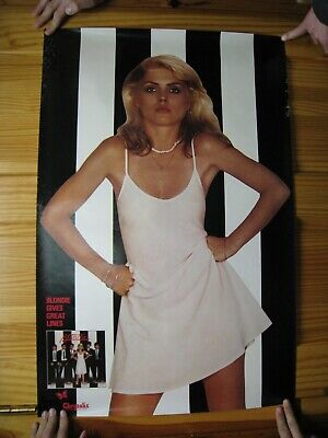 Blondie Poster White Dress Black And White • 226.71£