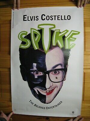 Elvis Costello Poster Spike Face Shot With Make-Up • 29.79£