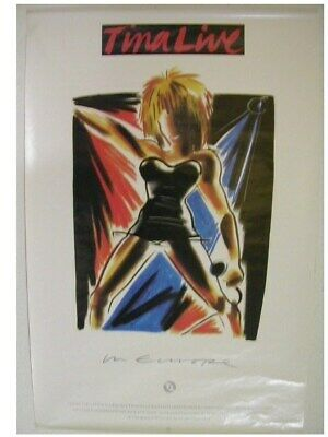Tina Turner Poster Live In Europe Concert • 45.51£