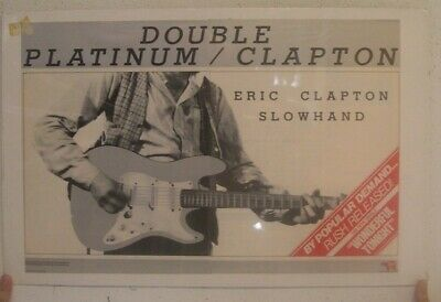 Eric Clapton Poster Trade Ad Slowhand Double Platinum • 160.95£