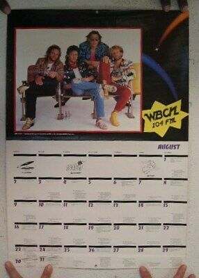 Van Halen The Rolling Stones Calendar 2 Sided Poster • 37.65£